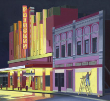 Painting the Set on Brisbane Street | 61 x 76 cm