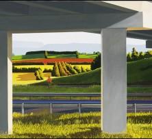Looking South near Westbury | 93 x 150 cm | 2014 Glover Prize Finalist