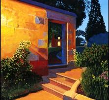 Cottage after Dusk | 30 x 30 cm