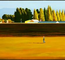 Autumn Around the Levee - Longford | 93 x 150 cm